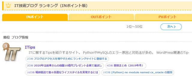 にほんブログ村 IT技術ブログランキング