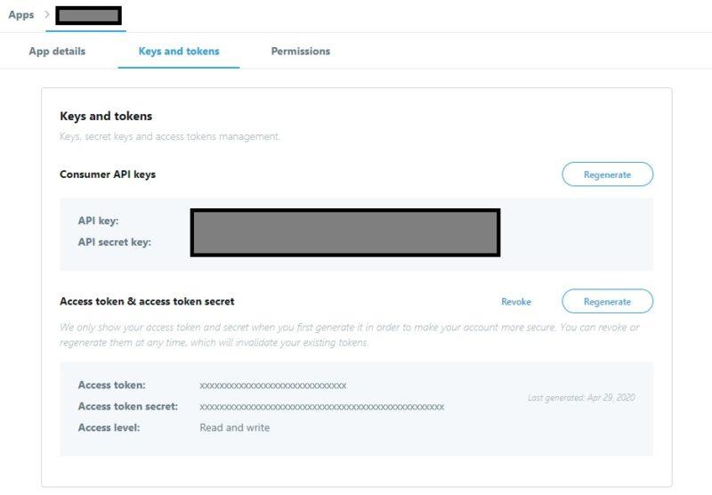 Twitter API取得