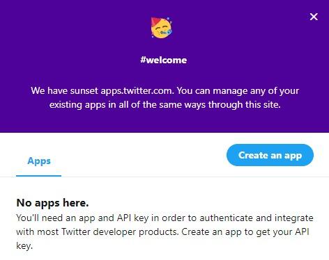 Twitter 開発者登録